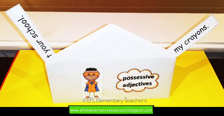 Esl Possessive Pronouns Nouns Adjectives Form