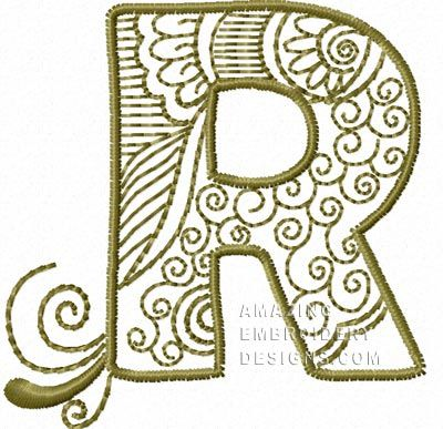 here's the next letter in the amazing embroidery designs new