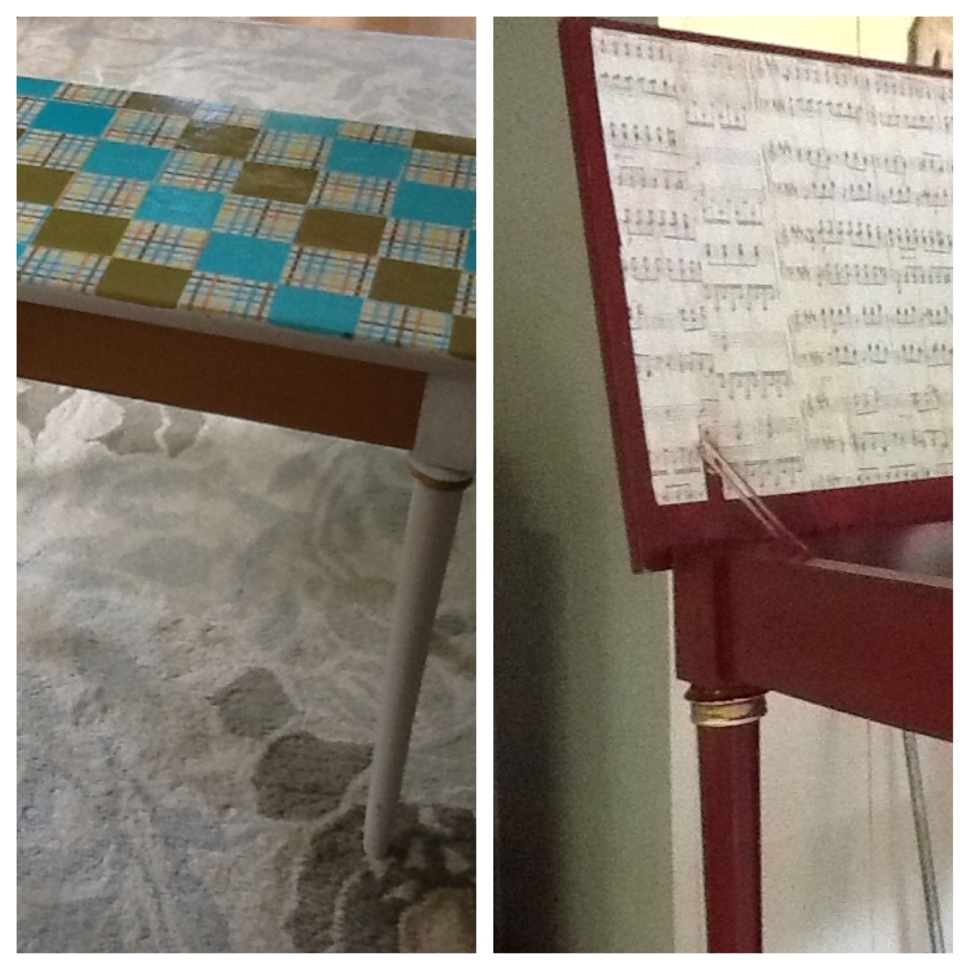 a piano bench make over