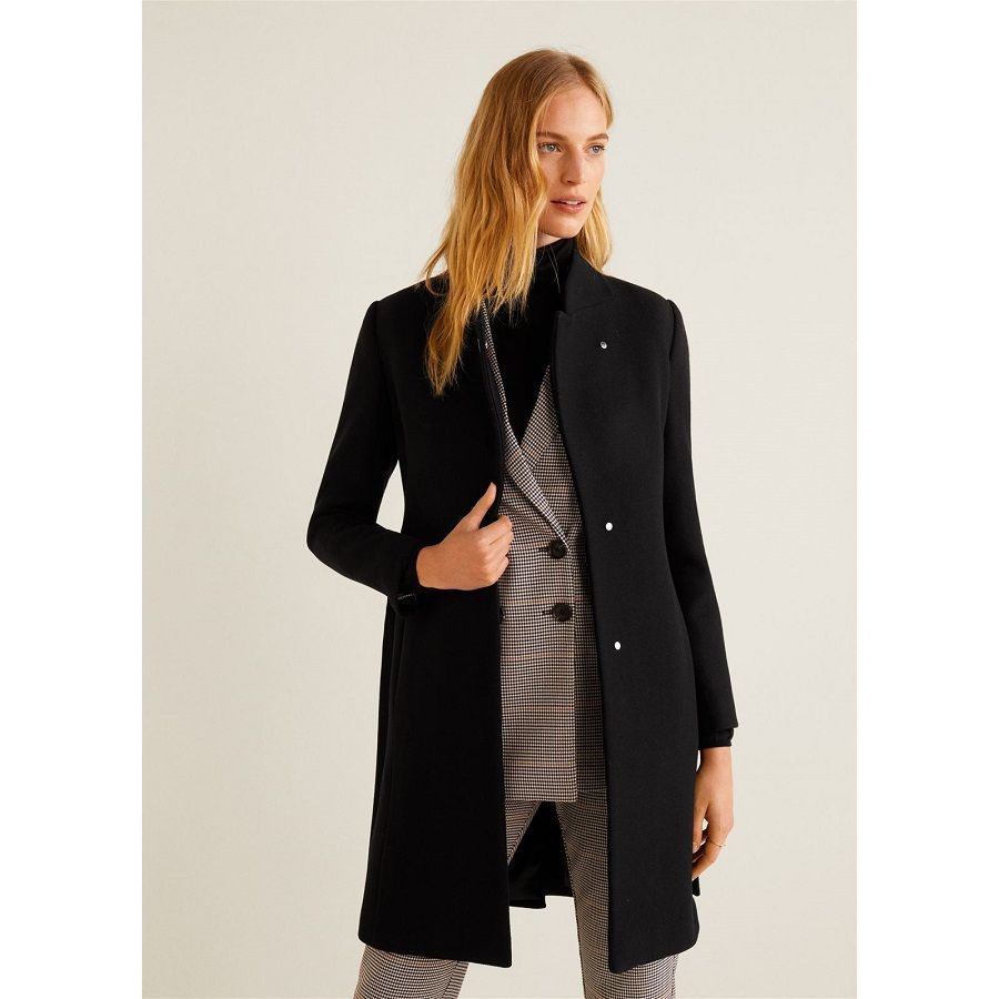 30c60b5f7cef Mango VENUS Manteau classique black pas cher prix Manteau Femme Brandalley  149.99 € TTC