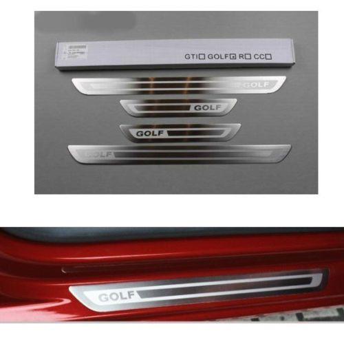 Stainless Door Sill Scuff Plate Guard Trim For Vw Golf 4 6 Mk6 Mk4 09 2011 Mk4 Vw Golf Golf Volkswagen Golf
