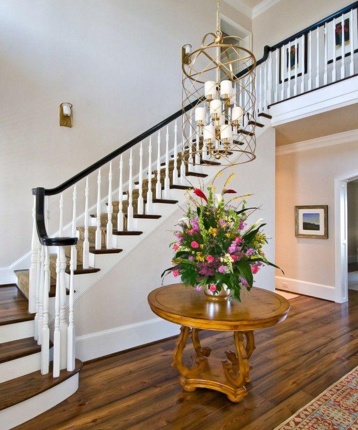 Furnishing ideas floor spacious Round Hall hallway table ...