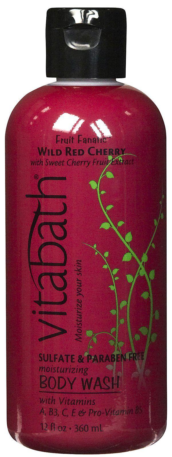 Vitabath Fruit Fanatic Collection Body Wash, Wild Red Cherry ...