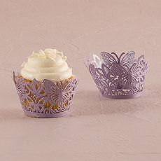 Beautiful Butterfly Filigree Paper Cupcake Wrappers