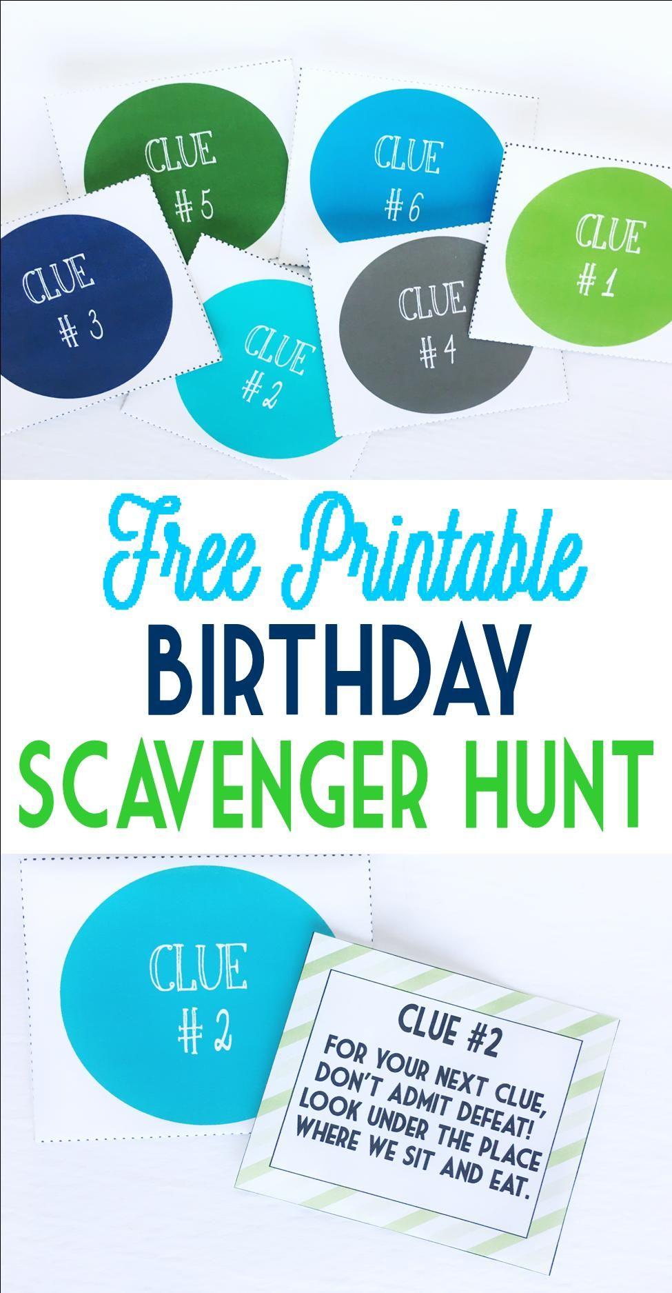Birthday Scavenger Hunt | Date Ideas | Pinterest | Birthday ...