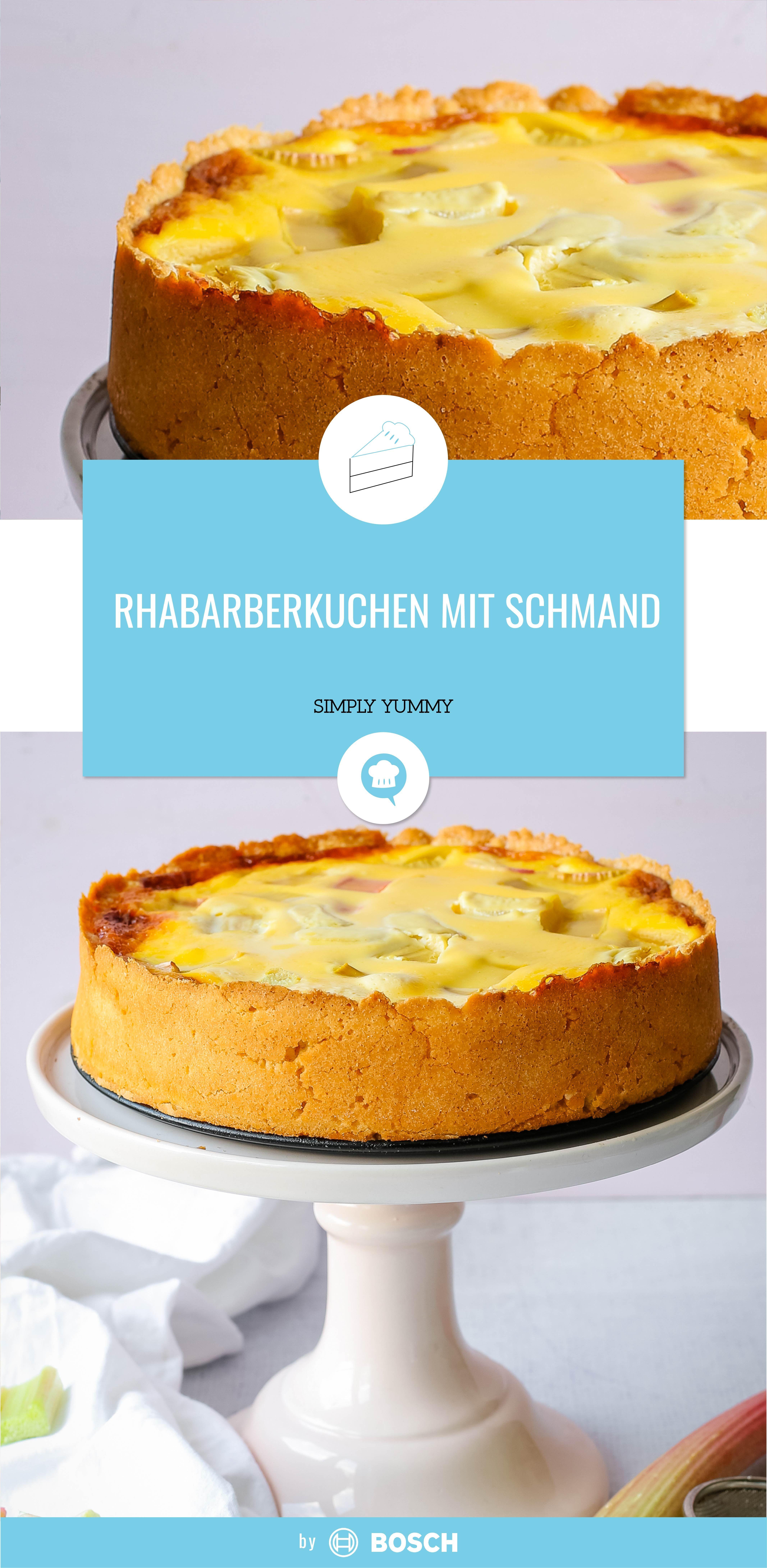 Rhabarberkuchen Mit Schmand Rezept Rhabarberkuchen Kuchen Rhabarberkuchen Mit Schmand