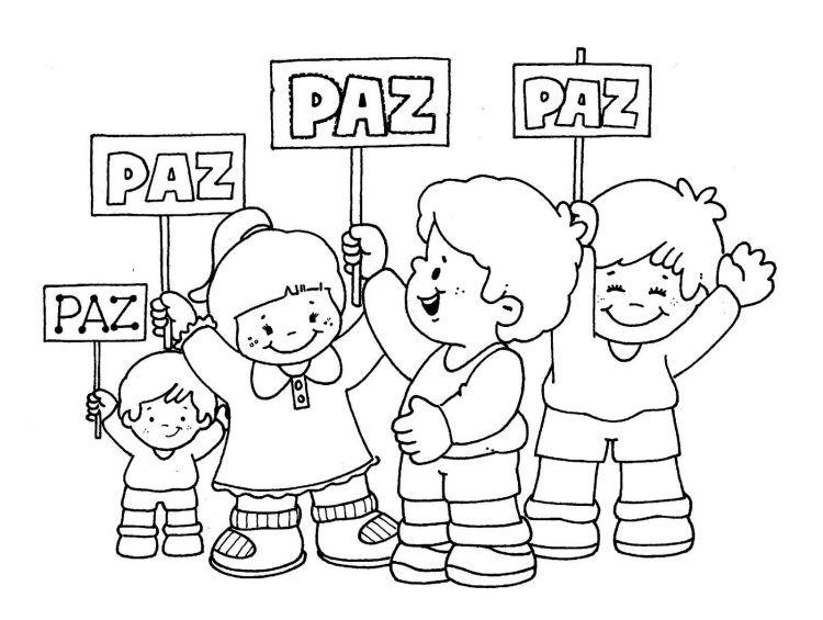 Dibujos para colorear en el Día de la PAZ y la NO Violencia [+ ...