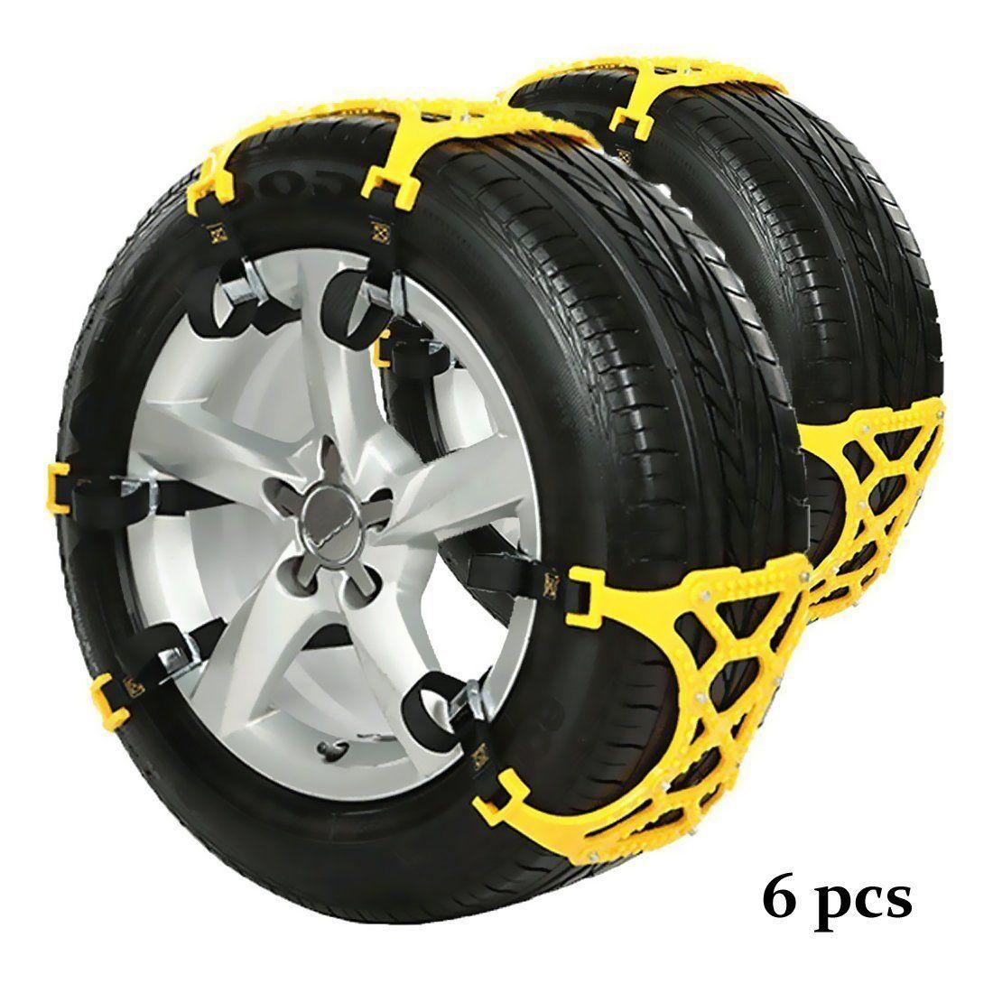 DINOKA 6 pcs/set Snow Chains of Car Chain Tire Emergency