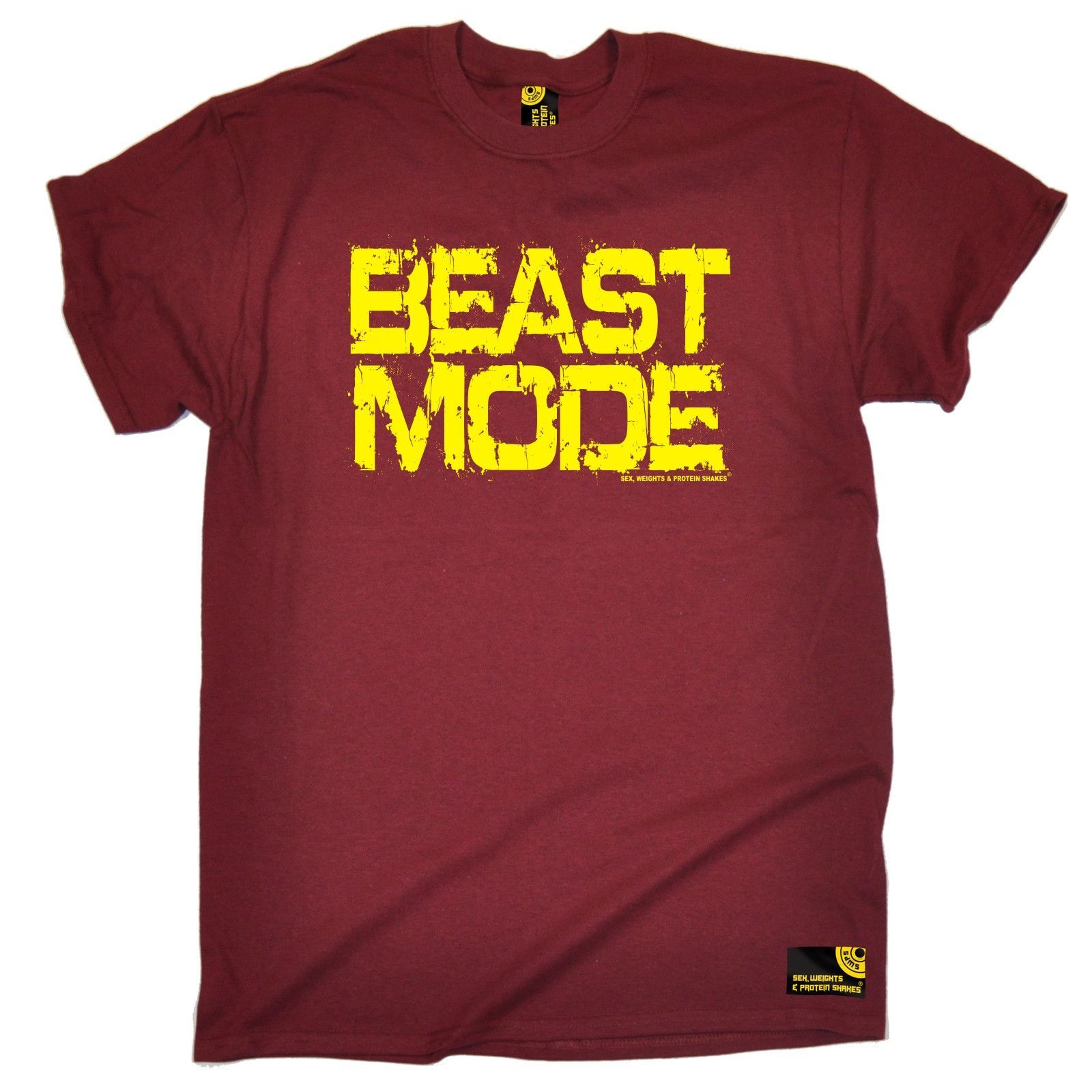 SWPS Men's Beast Mode Sex Weights And Protein Shakes Gym T-Shirt