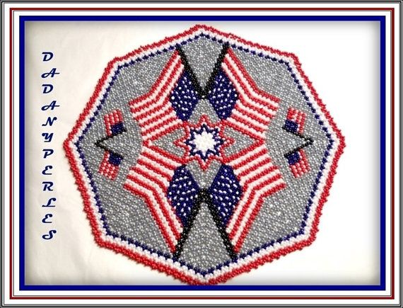 Hey, I found this really awesome Etsy listing at https://www.etsy.com/listing/182501412/pattern-bead-weaving-doily-americain