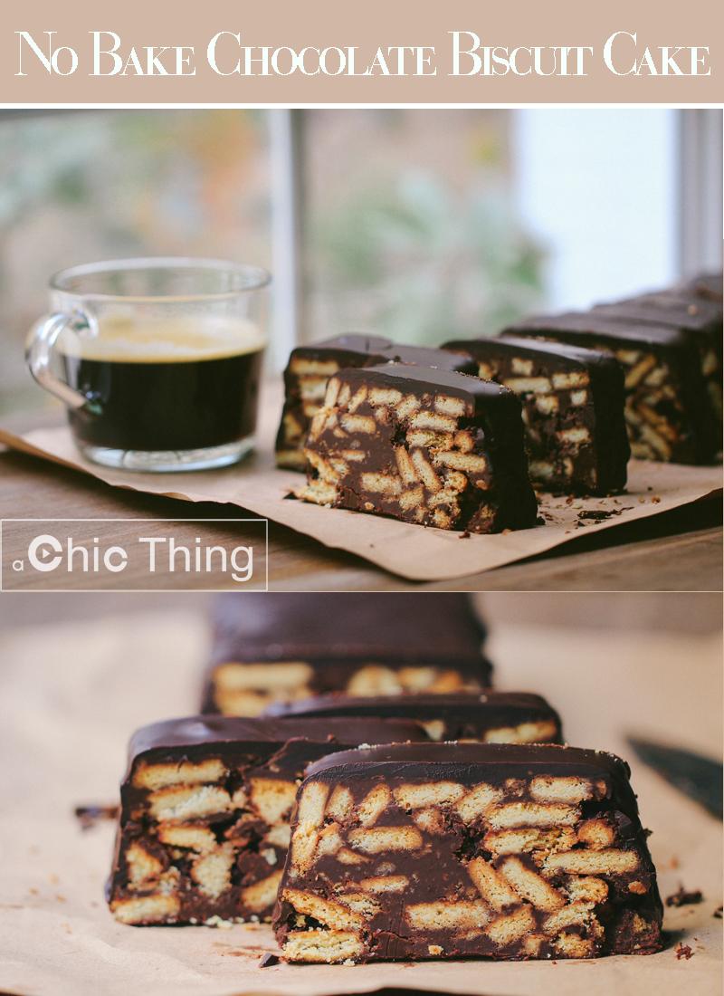 كيك الشوكولاتة بالبسكويت بدون فرن Biscuit Cake Chocolate Biscuit Cake Baking