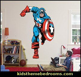 Captain America Bedroom Ideas For Boys | Americana Bedroom Decorating Ideas    Stars N Stripes Bedroom