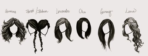 Potter Girls' Hair.