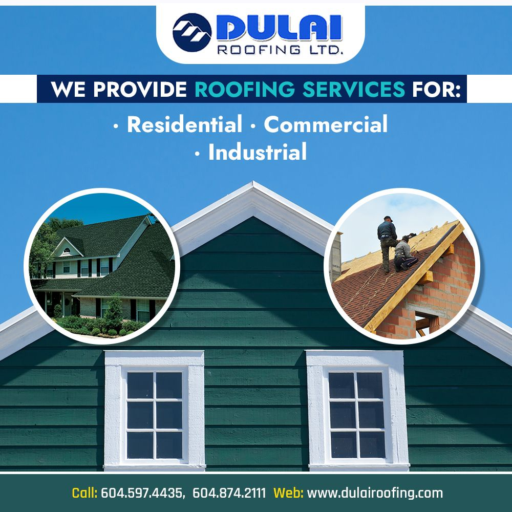 Dulai Roofing Is One Stop Company For Roofing Of Residential Commercial Or Industrial Buildings Also Get Innovative With Images Roofing Services Roofing Roofing Estimate
