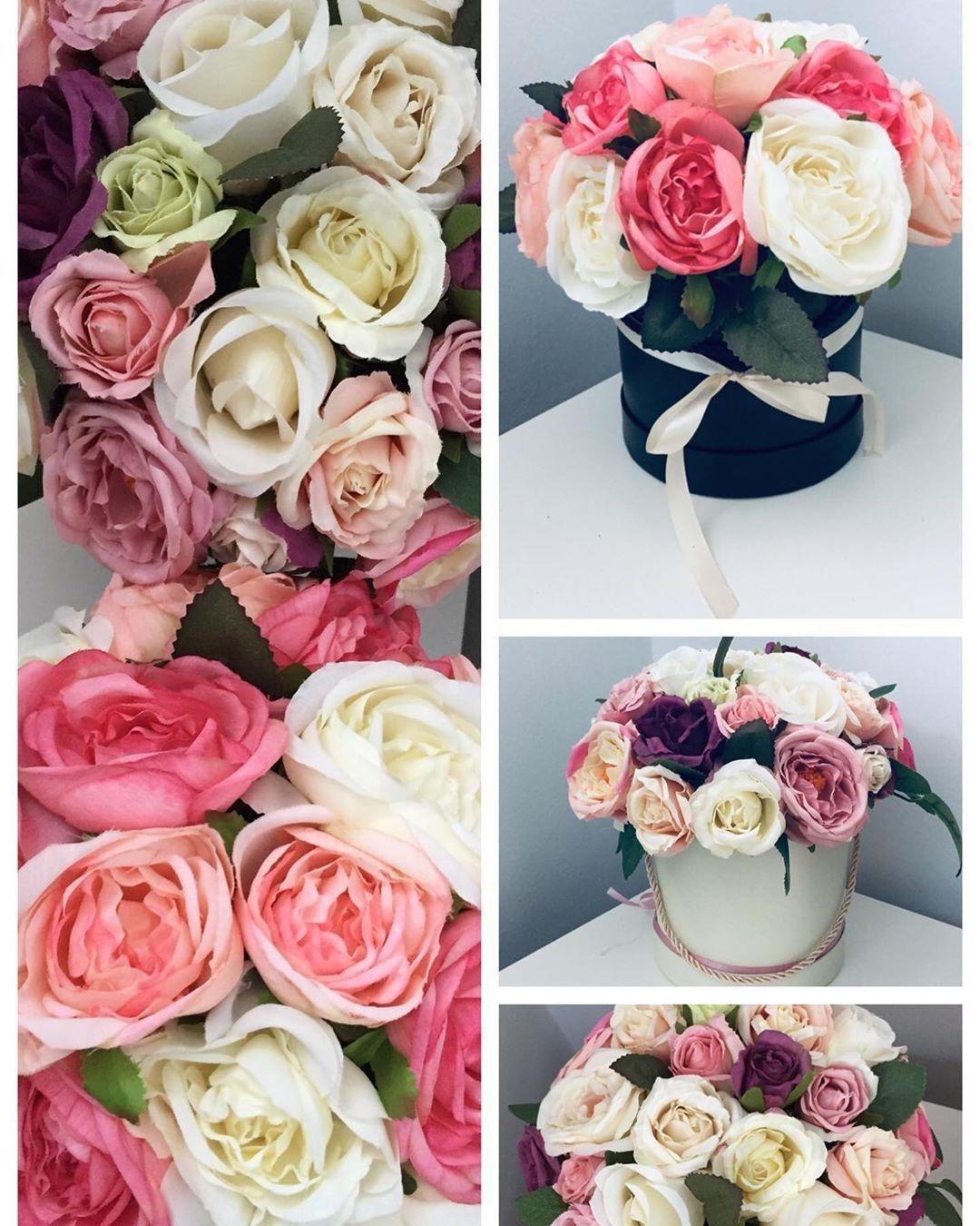 Pudelko Kwiatkow Na Urodziny Te Boksy To Swietna Alternatywa Dla Kwiatow Zywych Dosc Ze Ladnie Wygladaja To Jeszcze Nie Trzeba Ich Podl Rose Plants Flowers