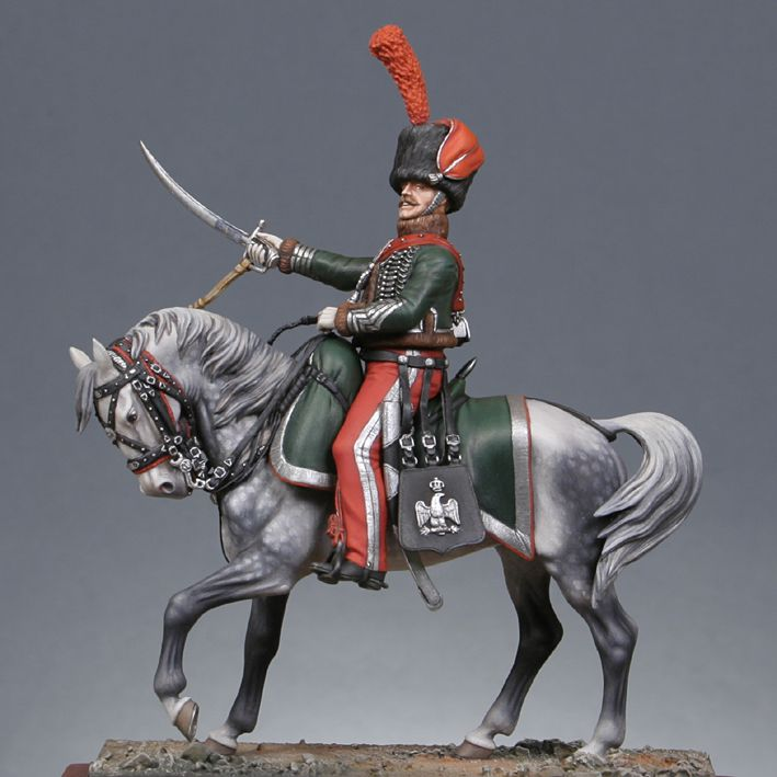 Napoleonic Wars — France Guards Mounted Chasseur — 54 mm Lead Figure