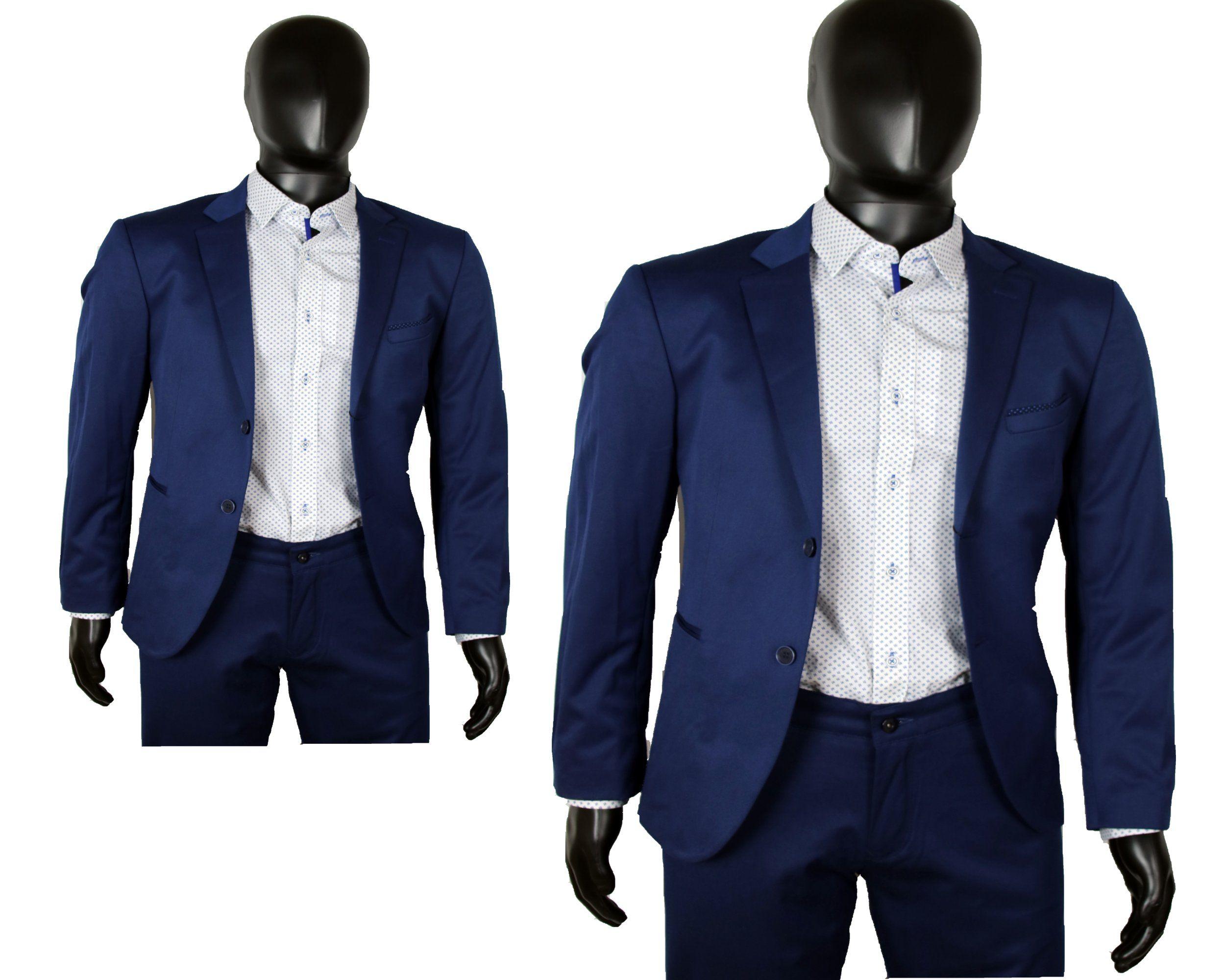 Marynarka Meska Elegancka Niebieska Okazja 15 48 7148738375 Oficjalne Archiwum Allegro Suit Jacket Fashion Single Breasted Suit Jacket
