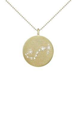 Gold Plated Sterling Silver Swarovski Crystal Scorpio Zodiac Pendant Necklace