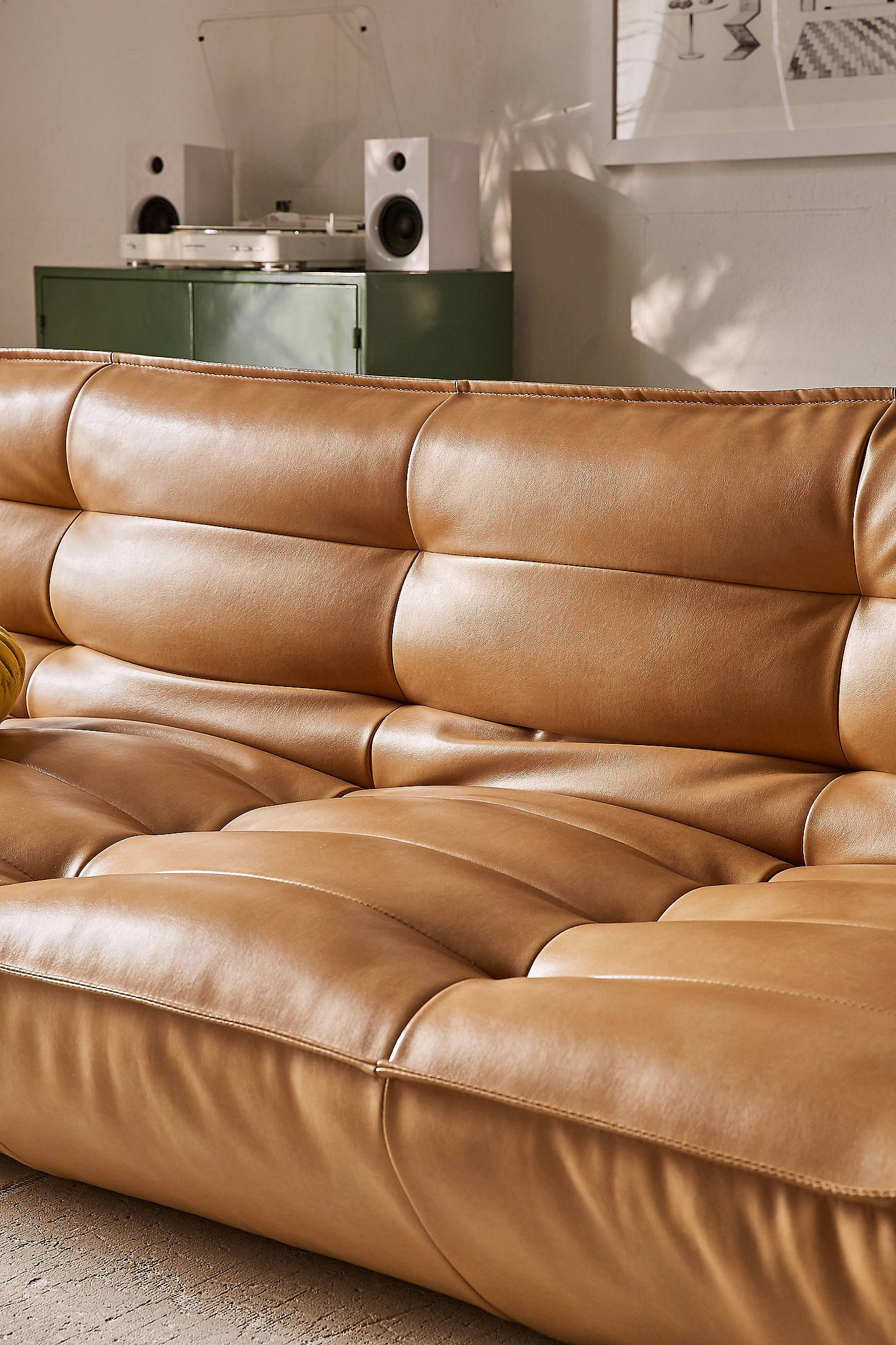 Recycled Leather Xl Sleeper Sofa