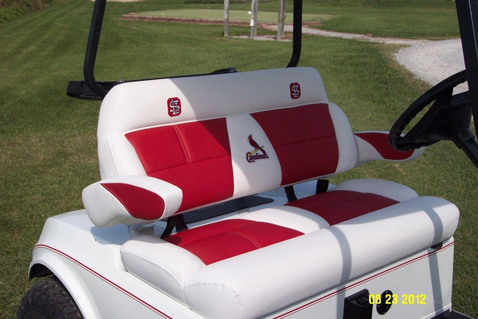Closeup of Luxury Seat w/St. Louis Cardinals logo