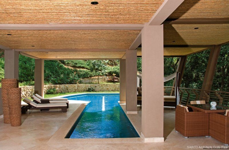 Bartlett Residence Sarco Architects Costa Rica Peninsula Papagayo Indoor Pool Design Indoor Outdoor Pool Tropical Houses