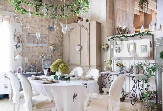 Casa romantica shabby chic una casa de campo sahbby chic a shabby chic cottage dining - Casa romantica shabby chic ...