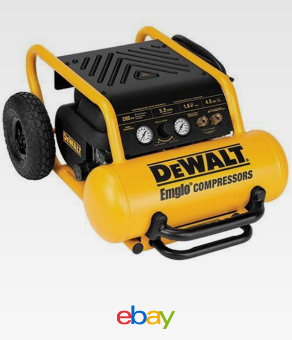 Details about DEWALT 4.5 Gallon Wheeled Portable Air