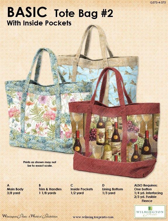 BASIC Tote 60 Free Pdf Pattern Download Sewingbags Pinterest Amazing Free Bag Patterns To Download Pdf