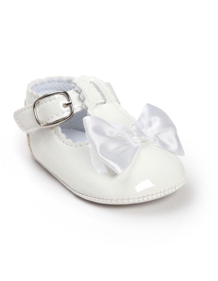 UK Newborn Baby Girl Soft Crib Pram Shoes Spanish Mary Jane First Walkers 0-18M