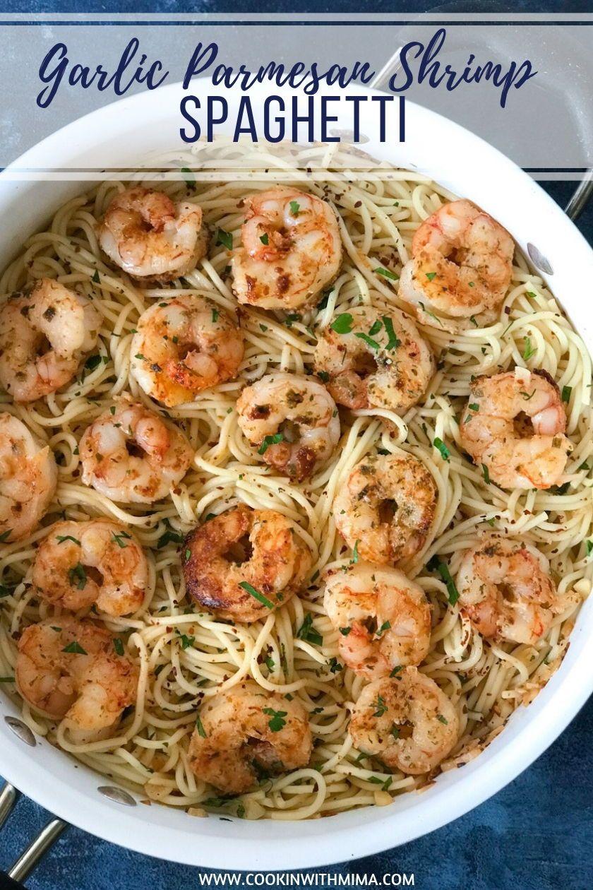 Garlic Parmesan Shrimp Spaghetti images