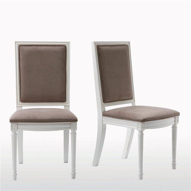 chaise style louis xvi lot de 2 nottingham la redoute interieurs prix avis notation. Black Bedroom Furniture Sets. Home Design Ideas