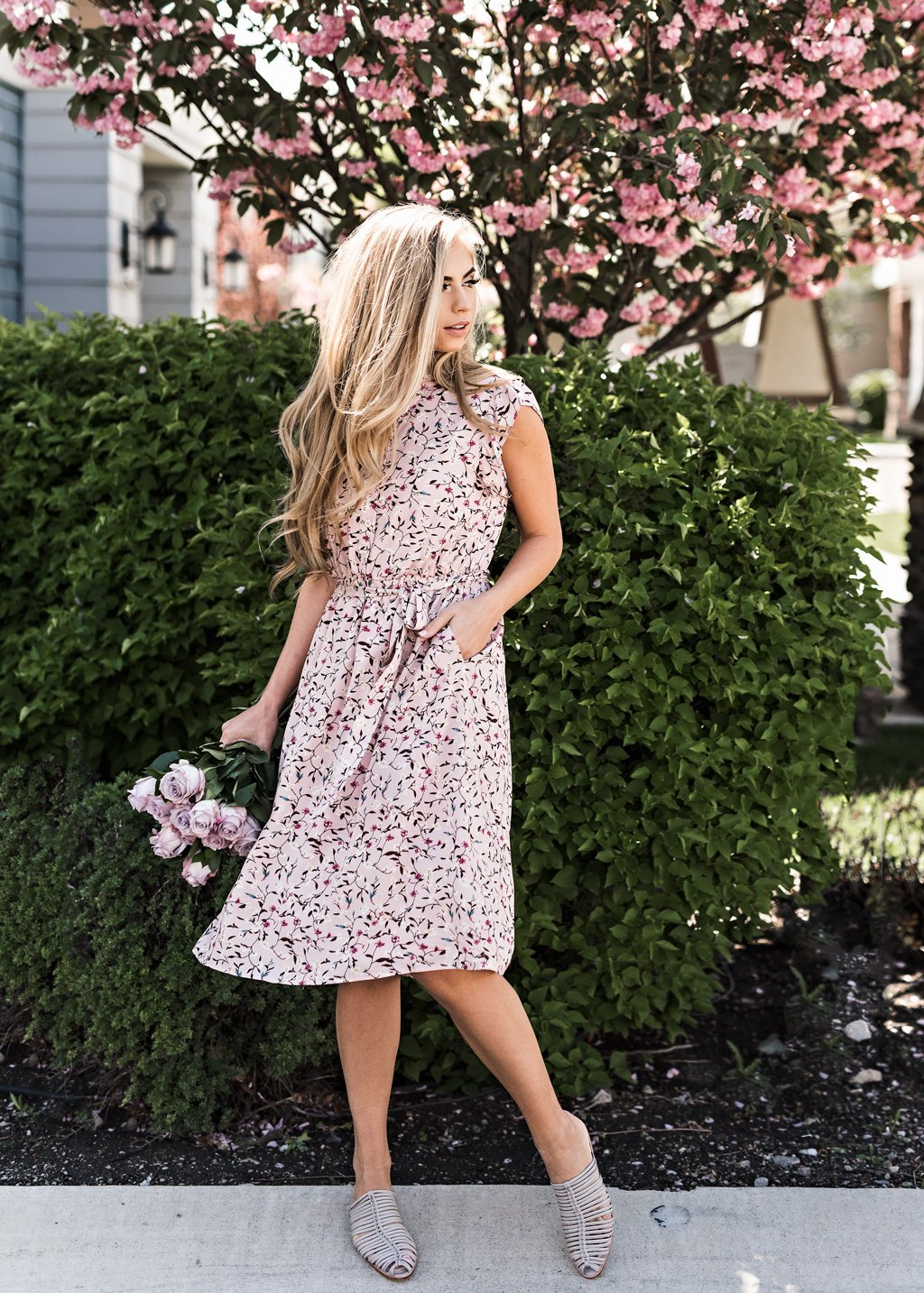 9610fdfc07a Color Me Pink Floral Ruffle Dress in 2019