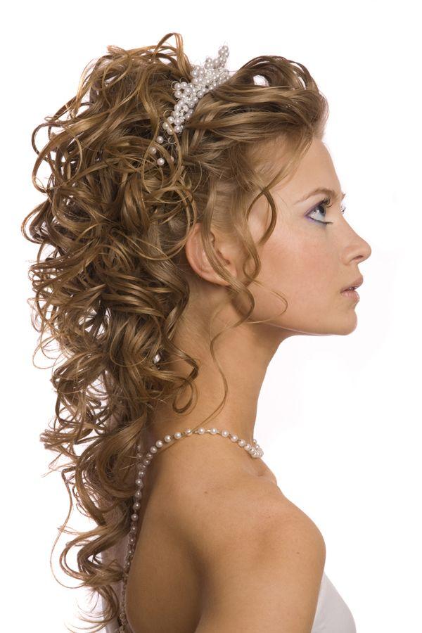 Peinados Para Novias Con El Pelo Rizado Clau Boda Pelo Rizado Y