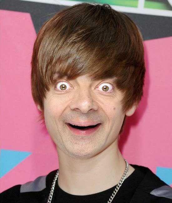 Mr Bean As Justin Bieber Mr Bean Engracado Fotografia Engracada Mr Bean