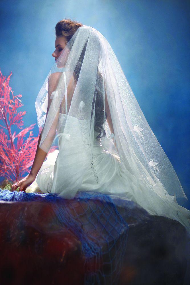 Princess Ariel wedding veil, from the Disney\'s Fairy Tale Weddings ...