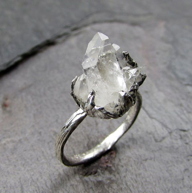 Natural Arkansas Quartz Crystal Cluster Sterling Silver gemstone