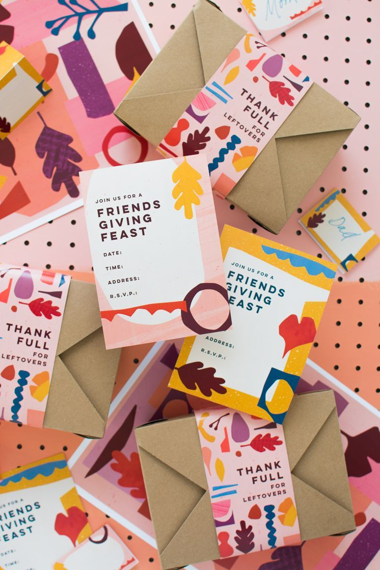 Printables Friendsgiving Printables. I like the kraft envelopes with a sleeve. This would make a cute packaging concept.Friendsgiving Printables. I like the kraft envelopes with a sleeve. This would make a cute packaging concept.