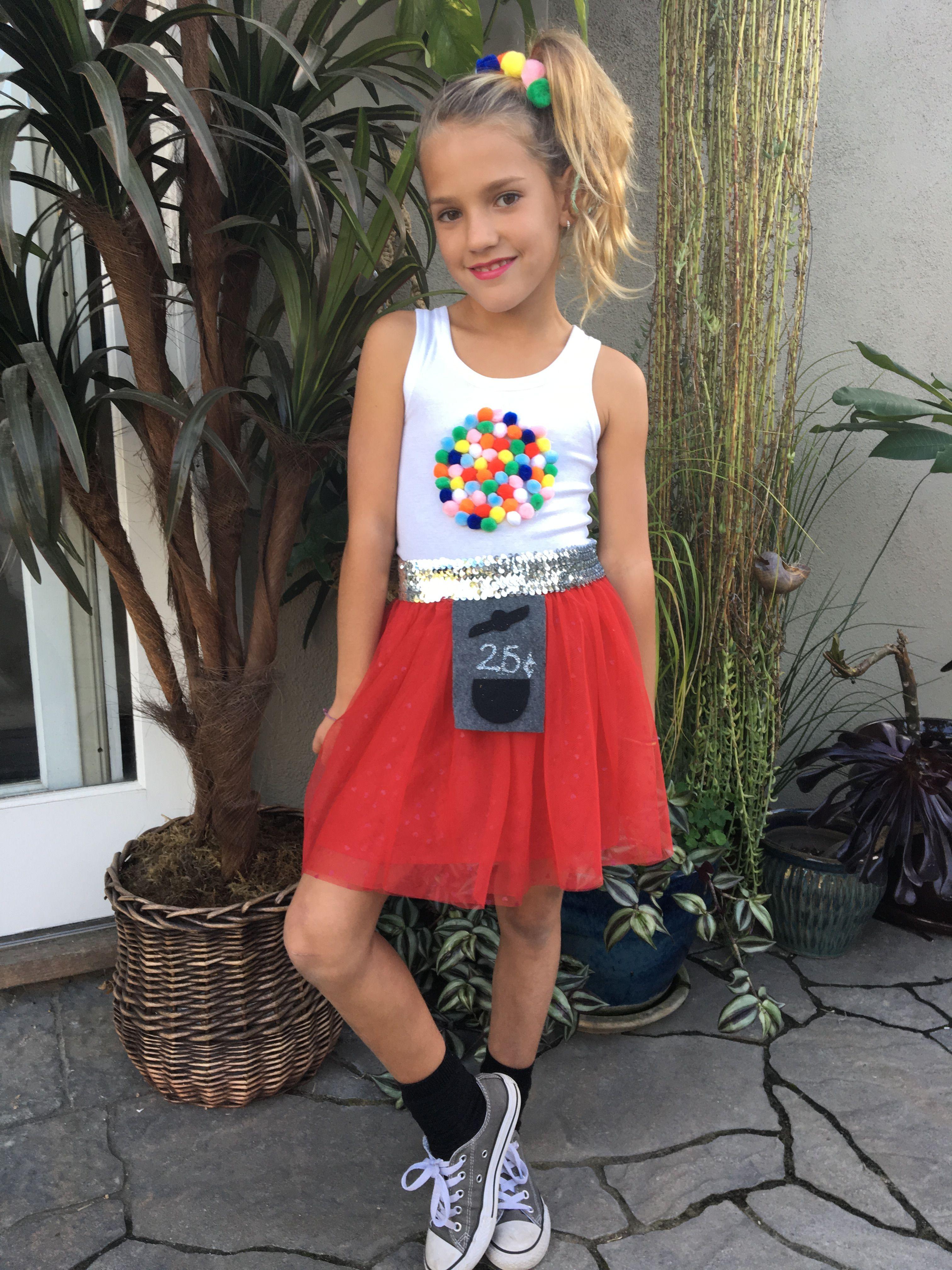 DIY kids/tween bubblegum costume Diy halloween costumes
