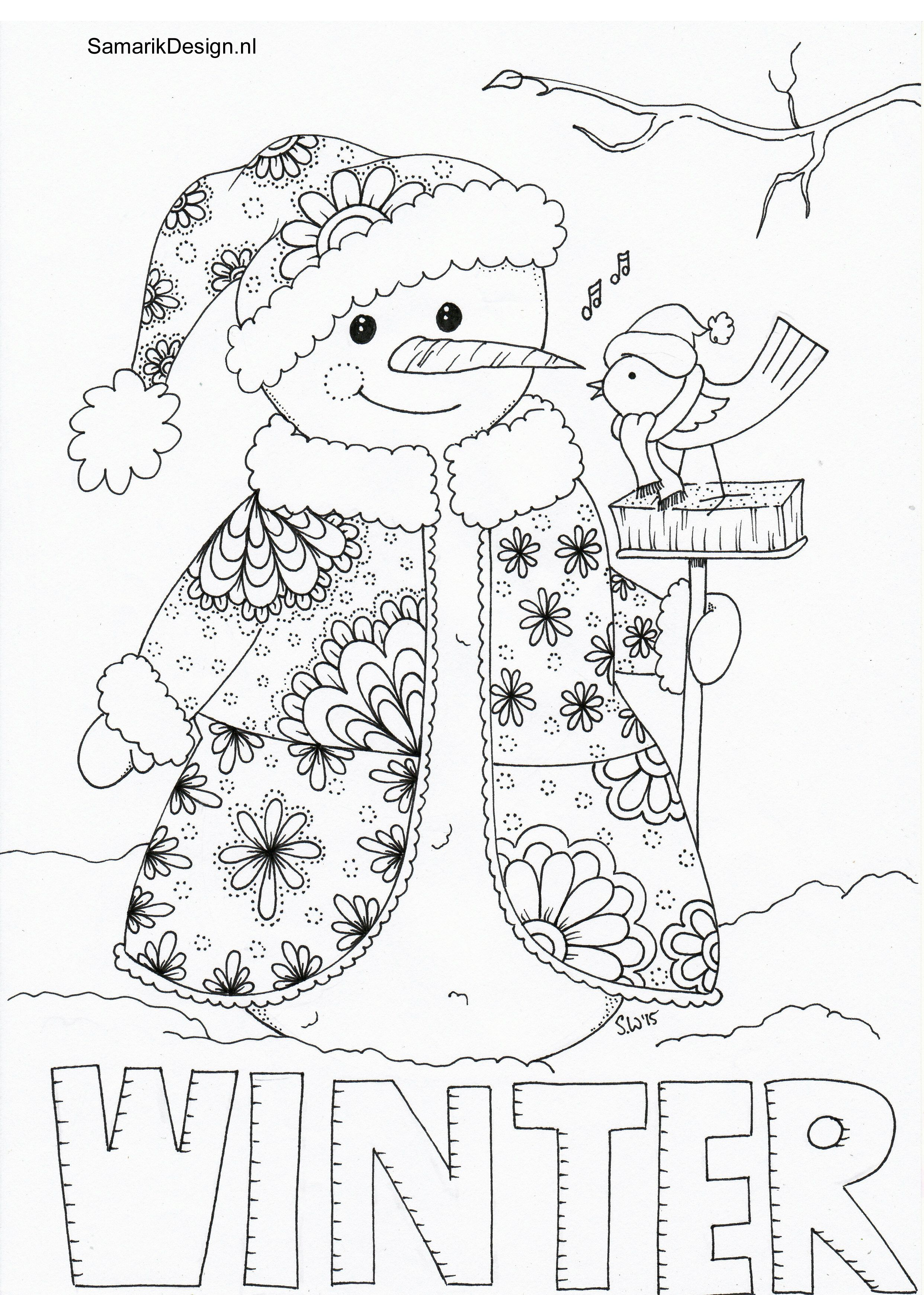 winter doodle   Drawings, New year art, Art   winter coloring pages adults