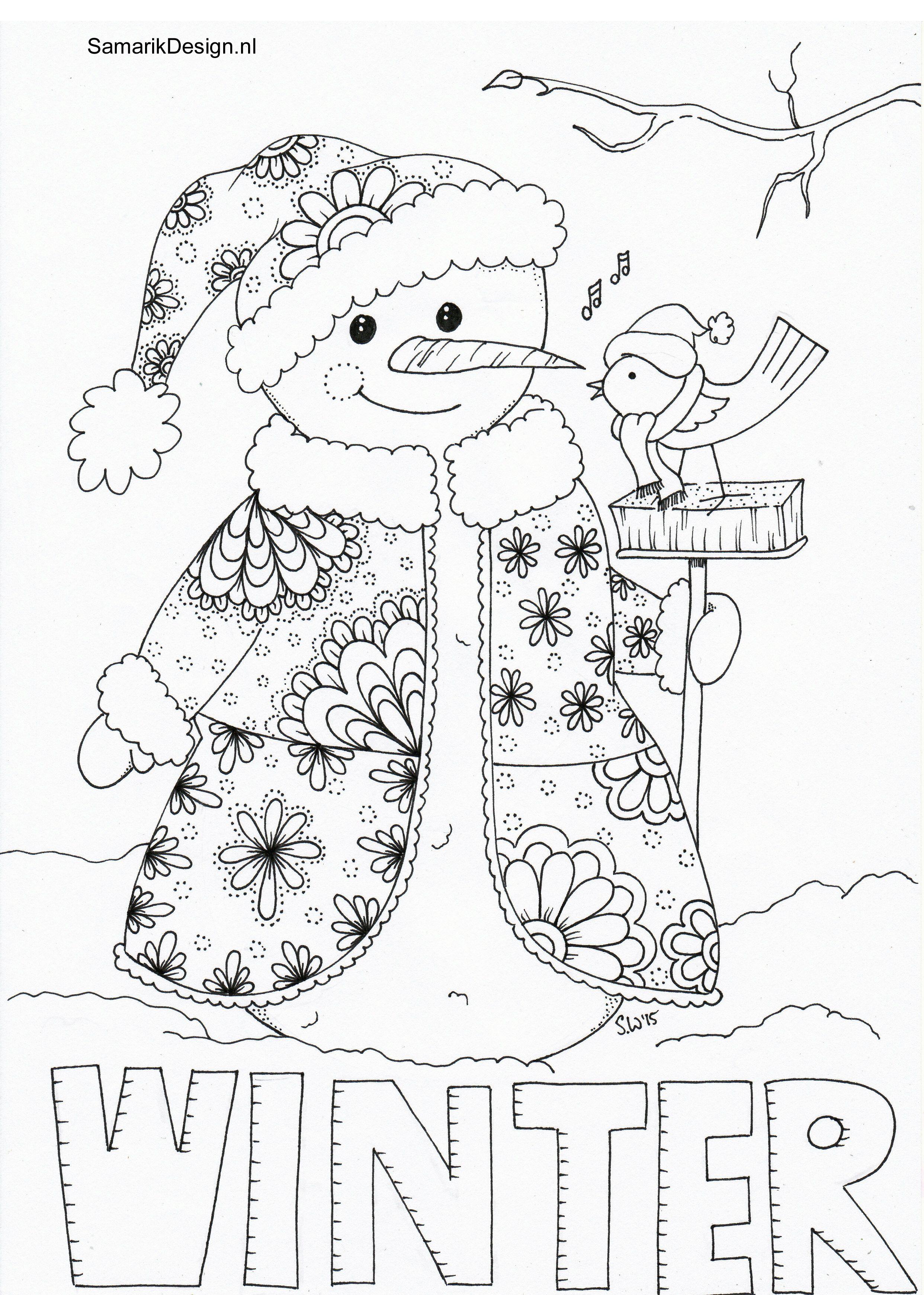 Winter Doodle KLEURPLATEN COLORING Kleurplaten Winter