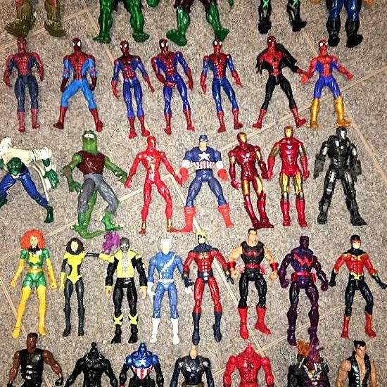 Marvel Legends Lot Spider-man Iron Man.. New Captain