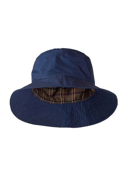 968babed4a Target Dry Ladies Storm Rain Hat - Dark Navy With a stylish check lining  The Storm