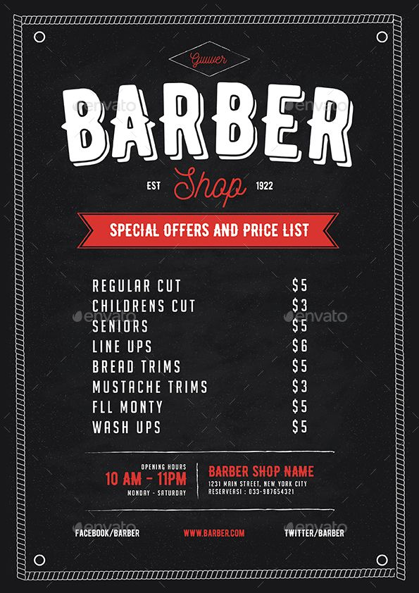 Barber Shop Flyer | Shops, Flyers and Beauty