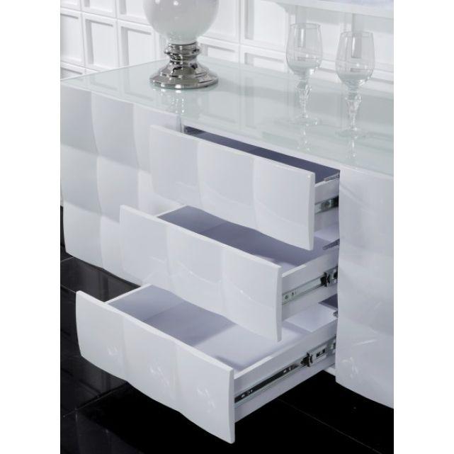 Buffet design OXYGEN blanc laqué, Autre ♥ Home - comment peindre un meuble laque
