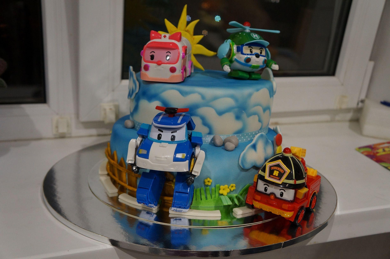робокар поли фото торт