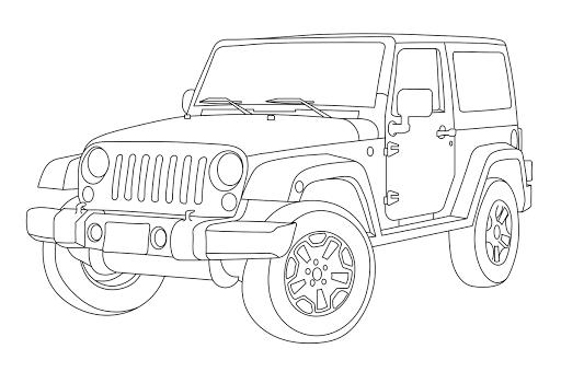 contoh gambar mewarnai gambar truk pasir