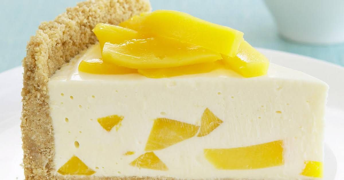 Mango And Lemon Cheesecake With Graham Crackers Butter Cream Cheese Sweetened Condensed M Dessert Recipes Pinterest Dessert Recipes Lemon Cheesecake Recipes