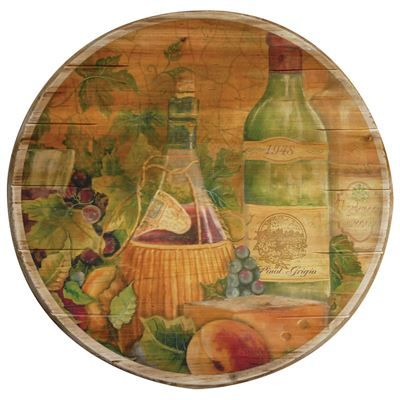 Boston Warehouse > boston warehouse > ceramics and entertaining > 16IN WOOD LAZY SUSAN TUSCAN WINE