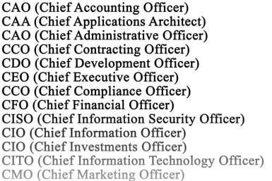Power And Influence CLevel Jobs  Job Title