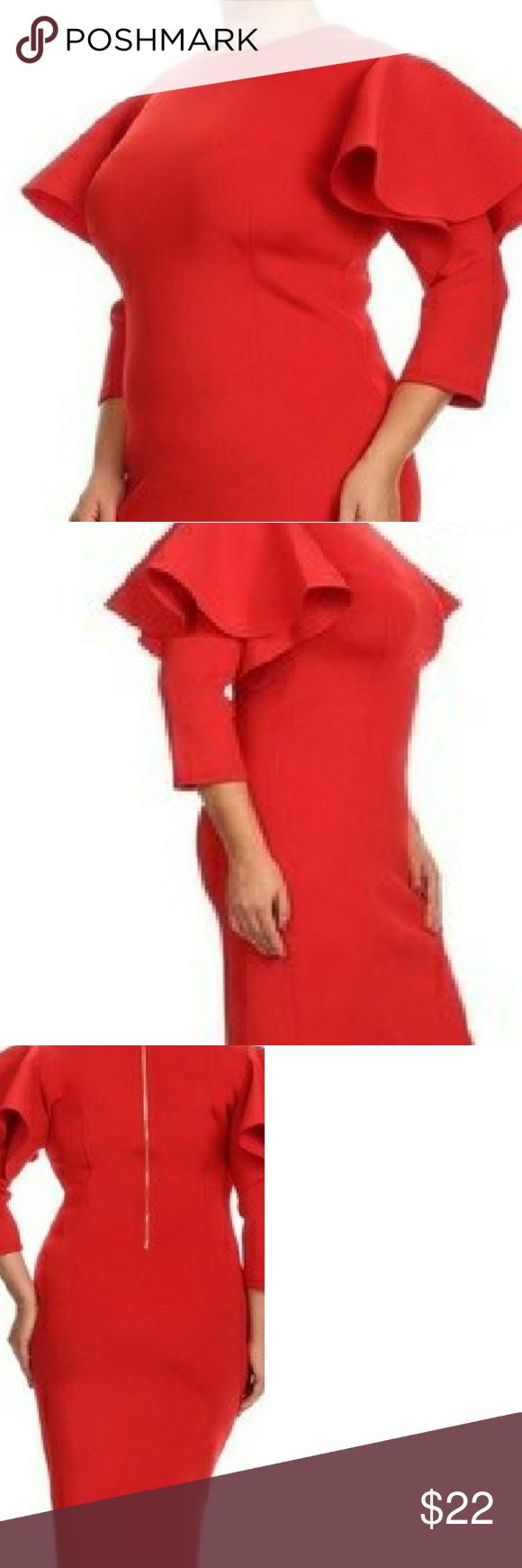 Ruffledsleeve body con dress my posh closet pinterest body